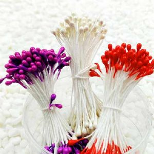 Flower stamen, Pinkish red, white, Dark purple, 240 pieces [approximate], [ST1199]